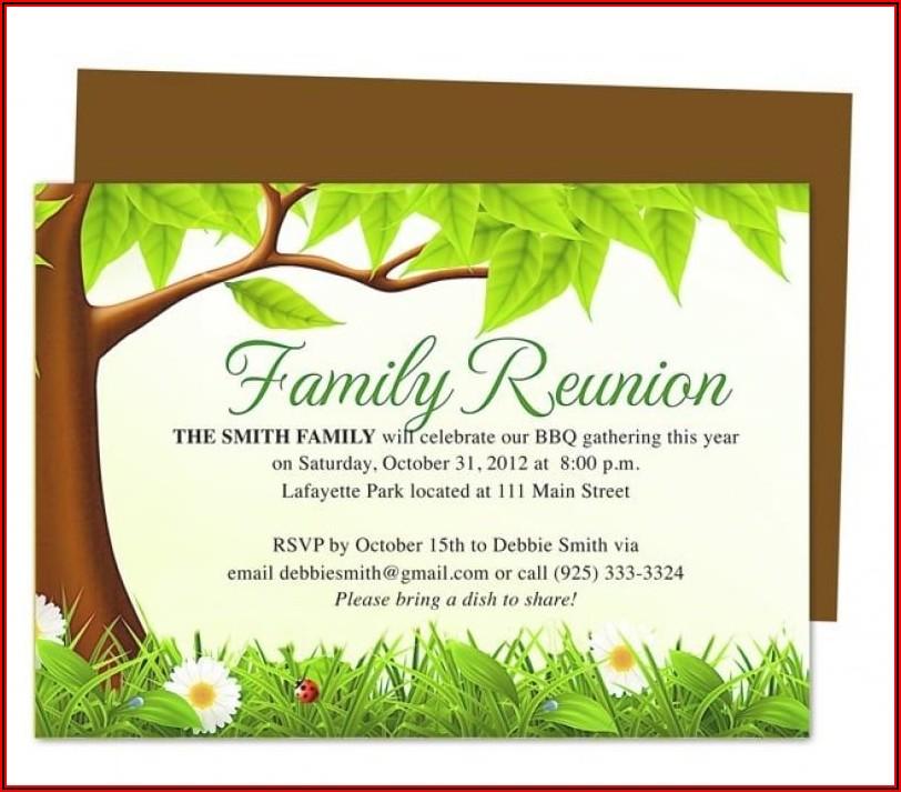 Reunion Invitations Templates Free