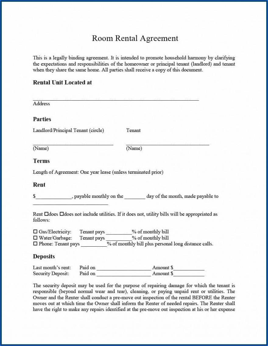 Room Rent Agreement Format In Marathi Pdf
