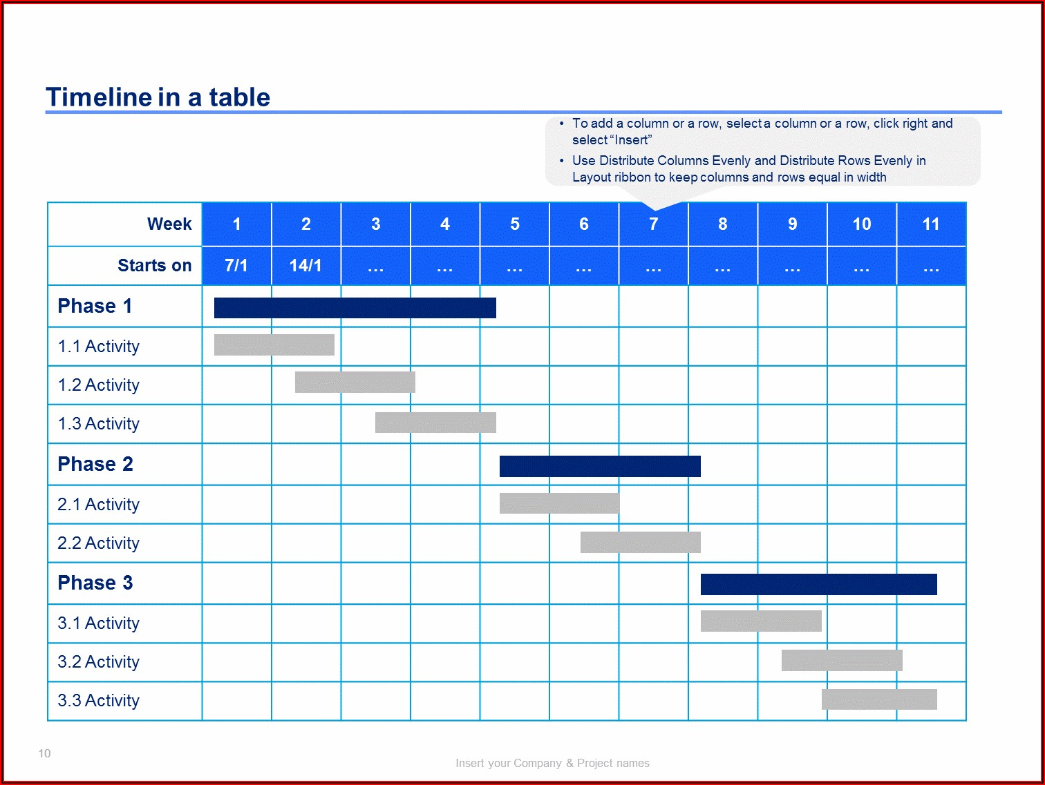 Simple Project Plan Timeline Template Excel