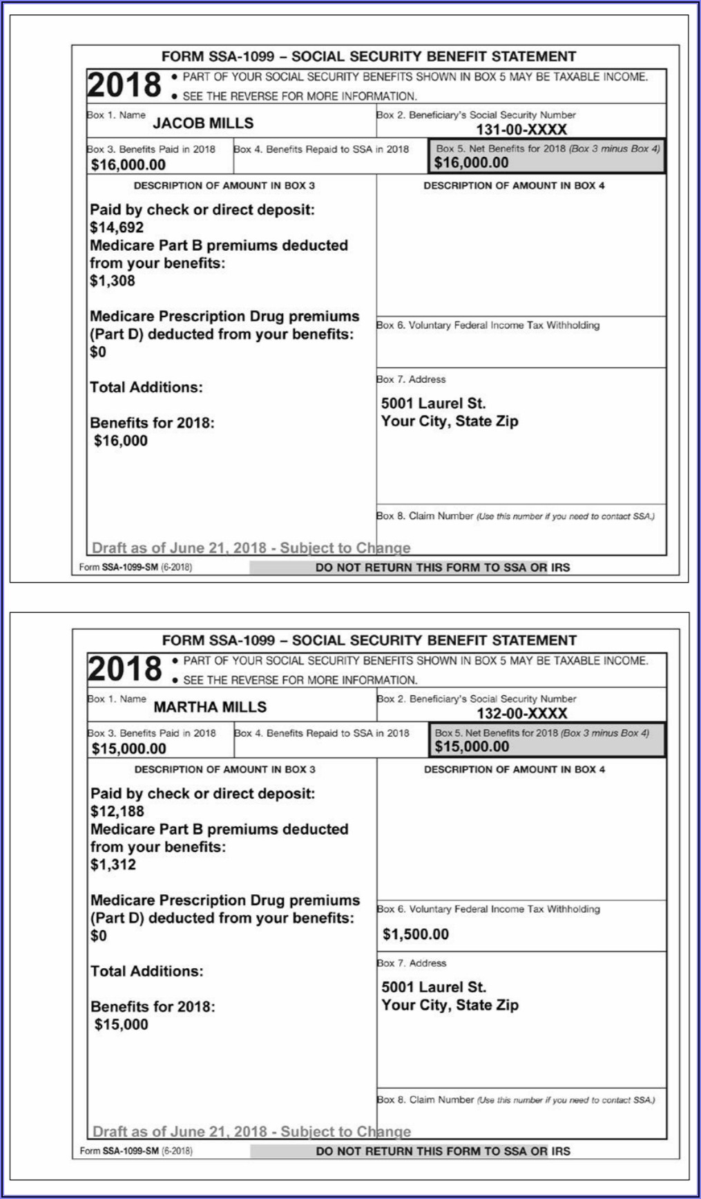 Social Security 1099 Form For 2019