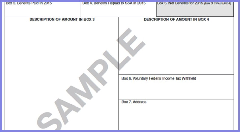 Social Security 1099 Form