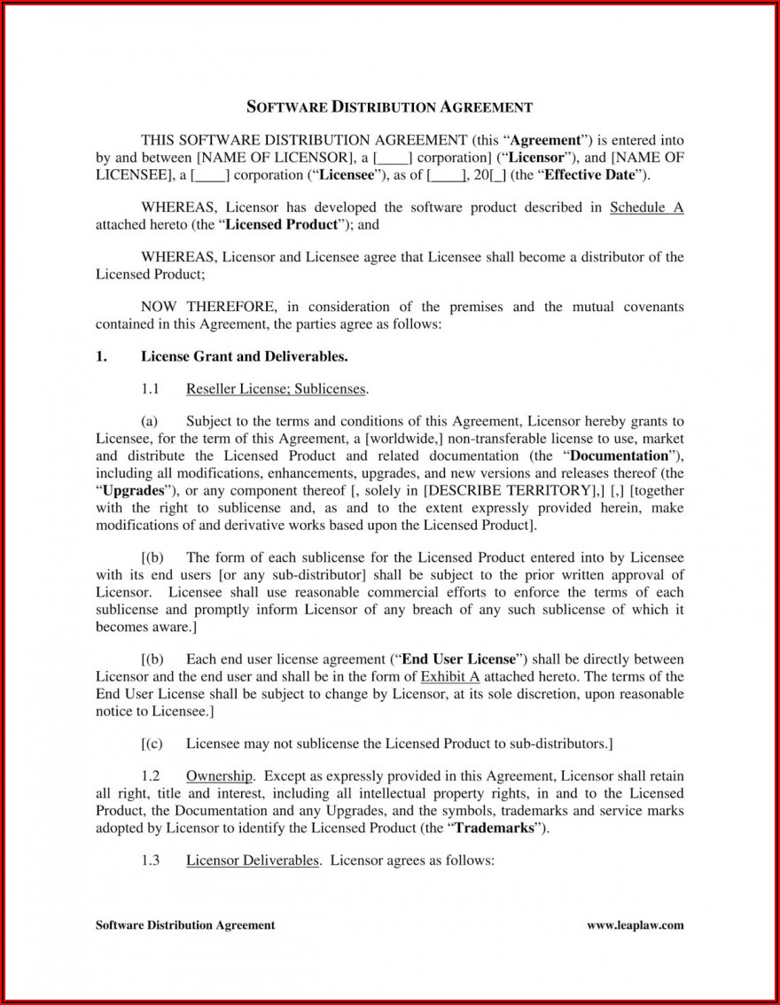 Sublicense Agreement Template Uk