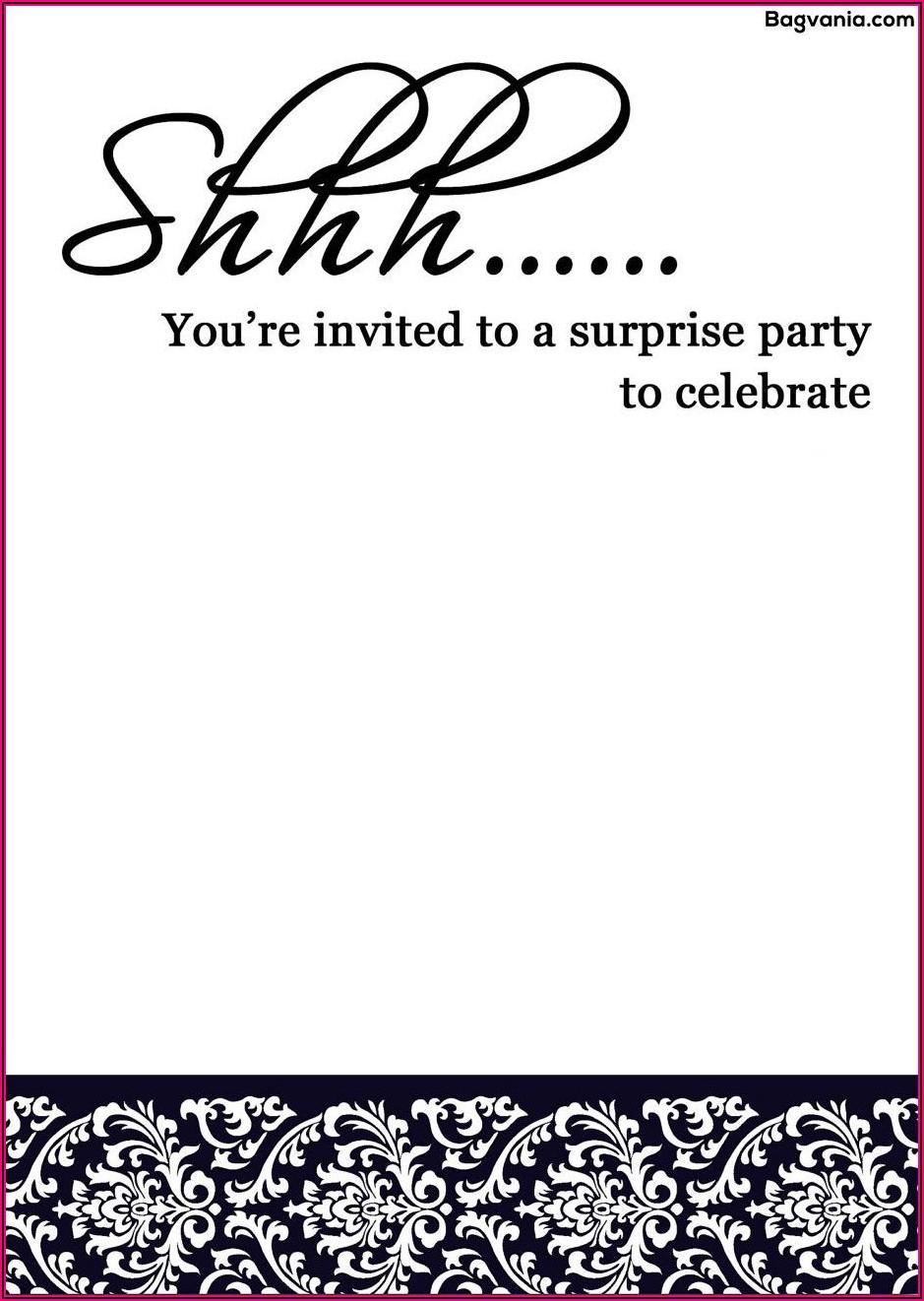 Surprise Birthday Invitation Templates Free