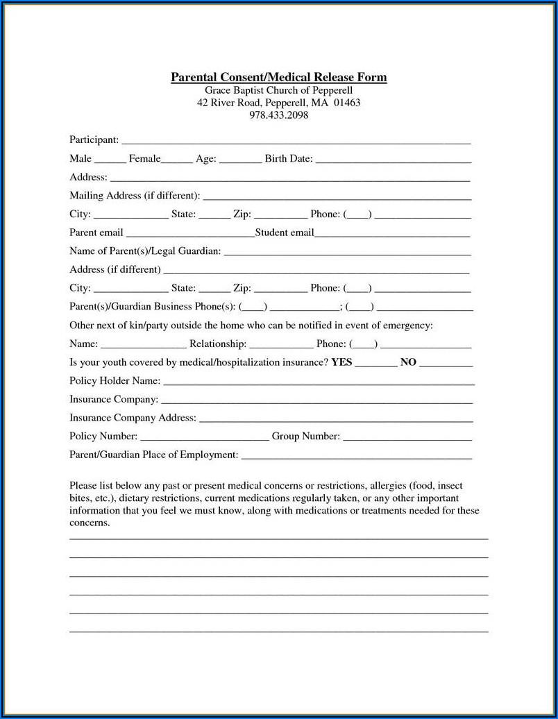 Temporary Parental Guardianship Form
