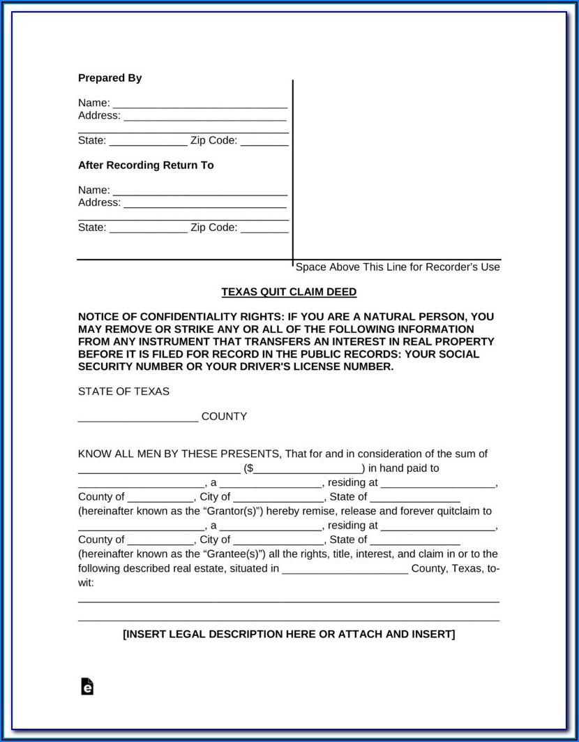 Texas Transfer On Death Deed Form Free