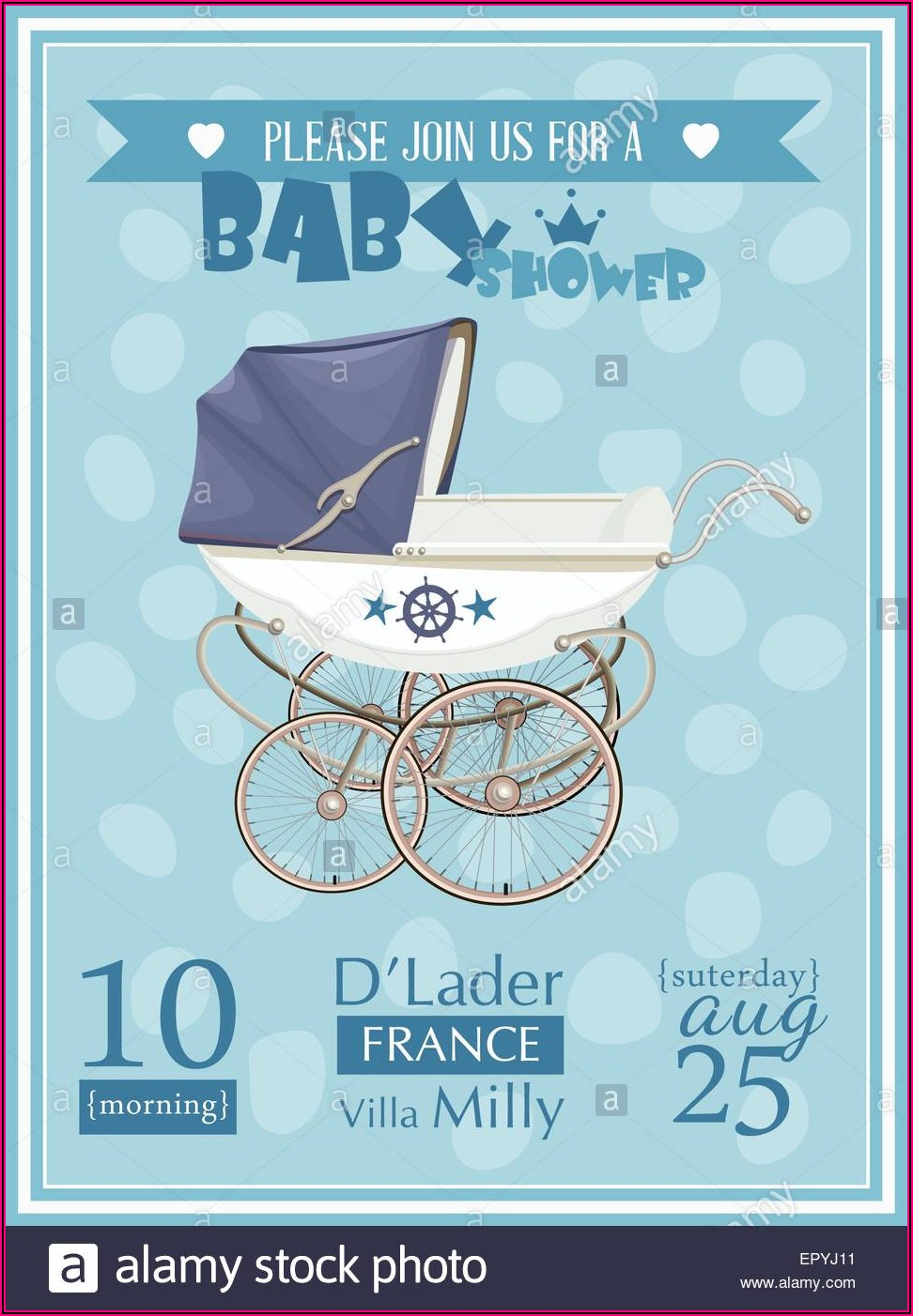 Twin Boy Baby Shower Invitation Templates