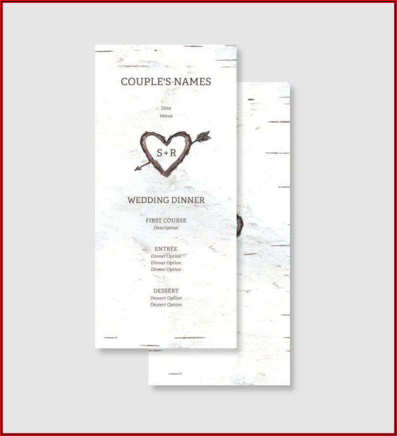 Vistaprint Menu Templates