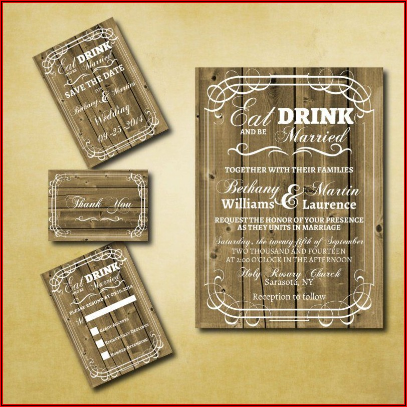 Western Wedding Invitations Templates Free