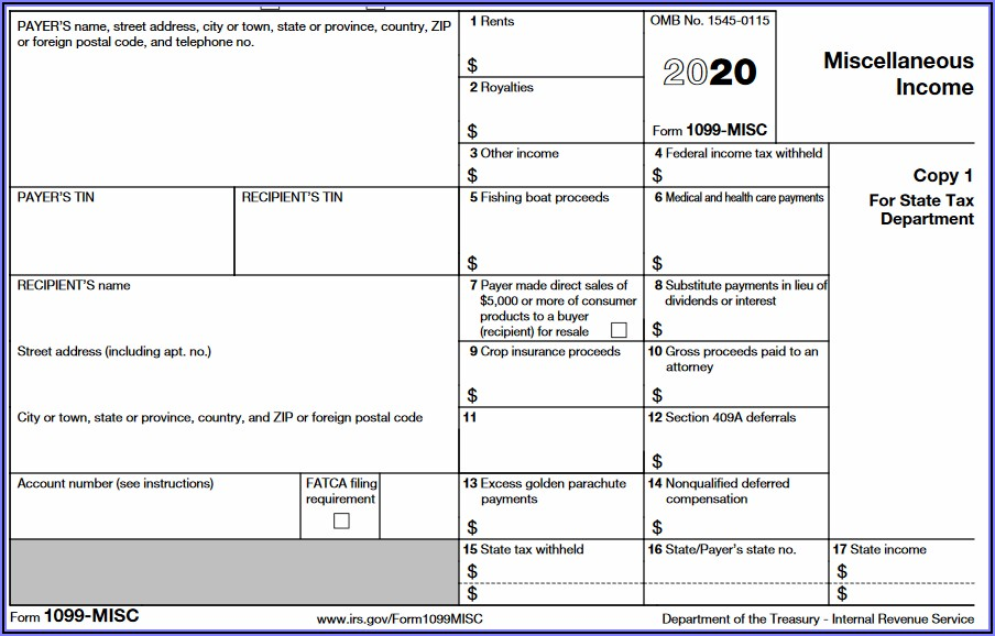 Where To Send 1099 Misc Forms Irs 2019