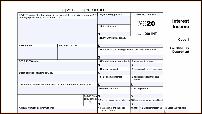 1099 Form 2020 For Employee To Fill Out