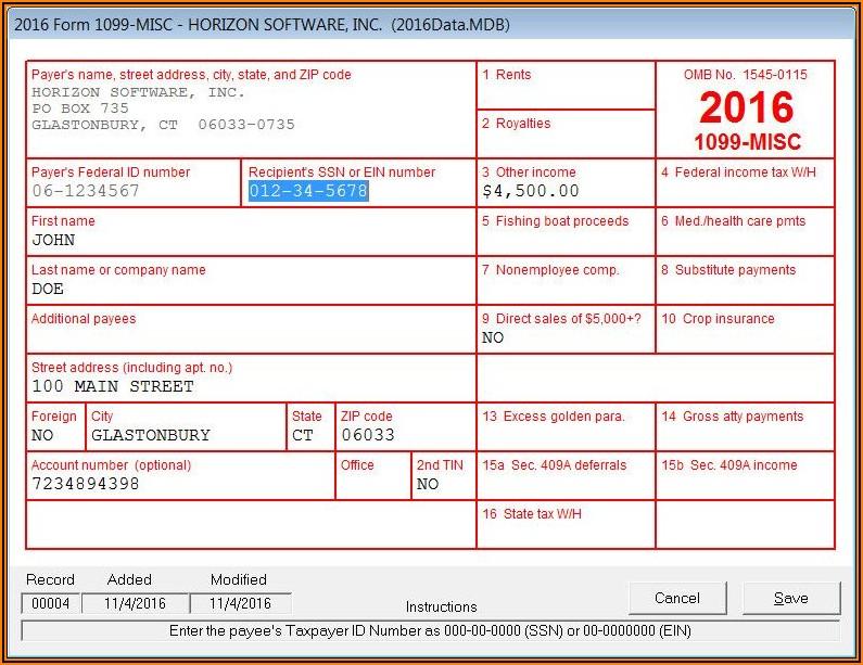 1099 Form 2020 Software