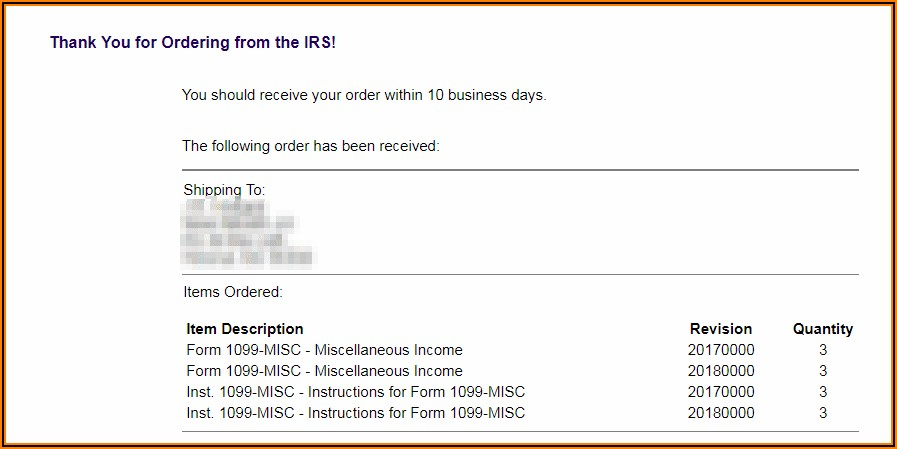1099 Forms From Irs