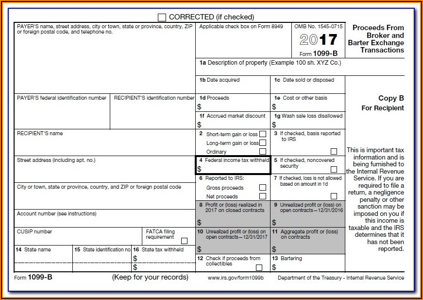 1099 Irs Form Printable