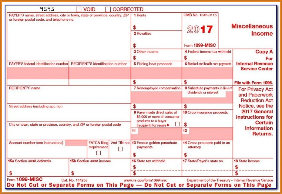 1099 Misc Blank Form