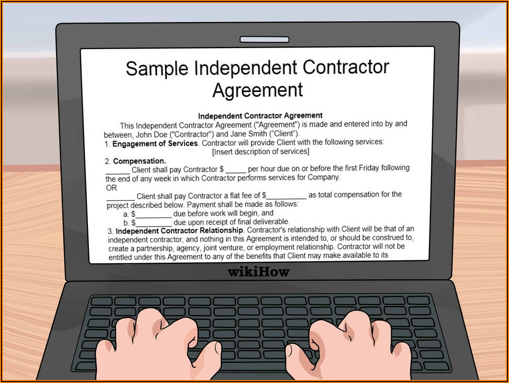 1099 Subcontractor Agreement Form