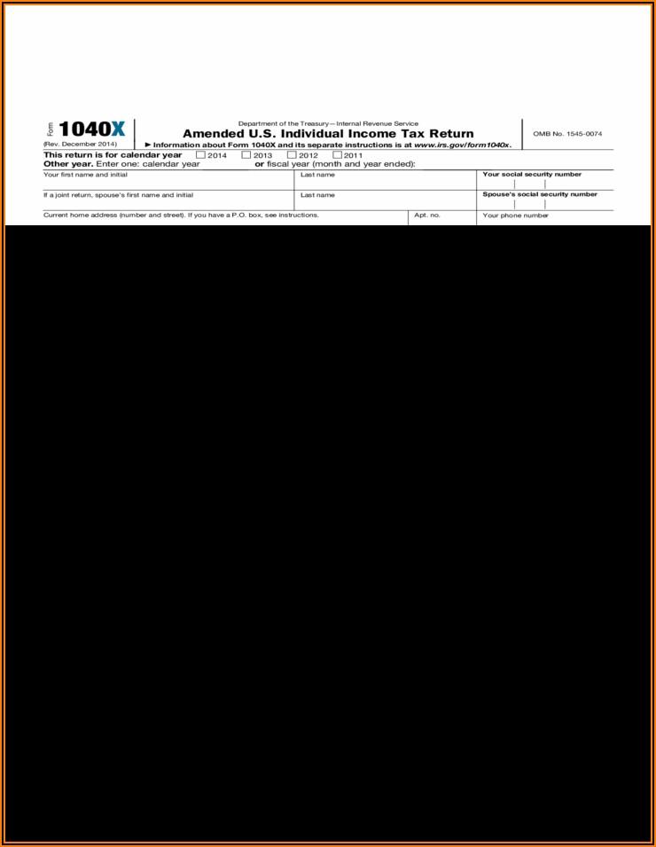 2014 Individual Tax Return Form