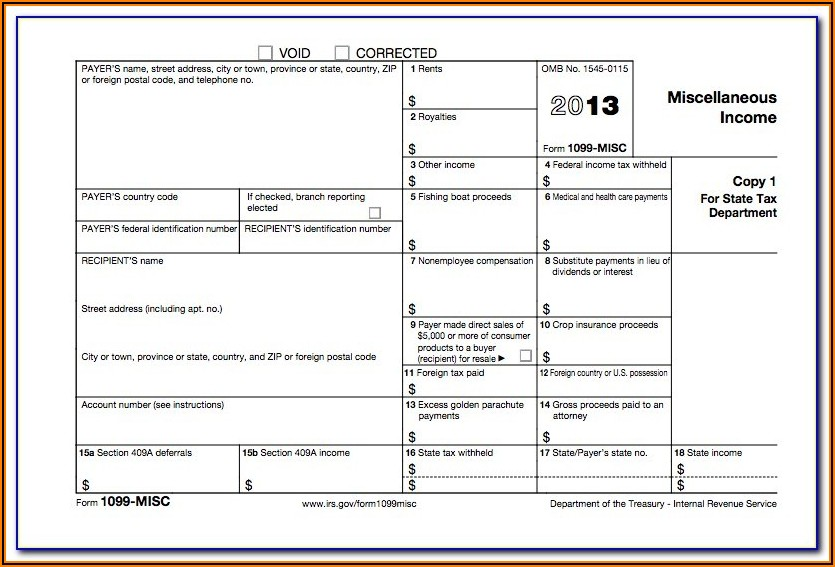 2017 Blank 1099 Misc Form