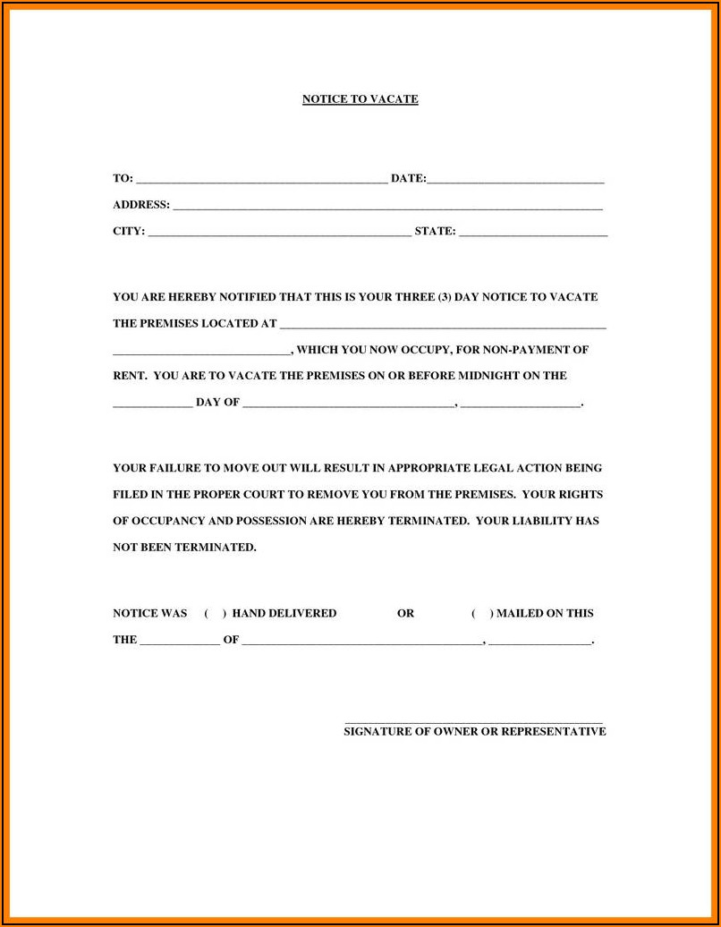 30 Day Eviction Notice California Form Pdf