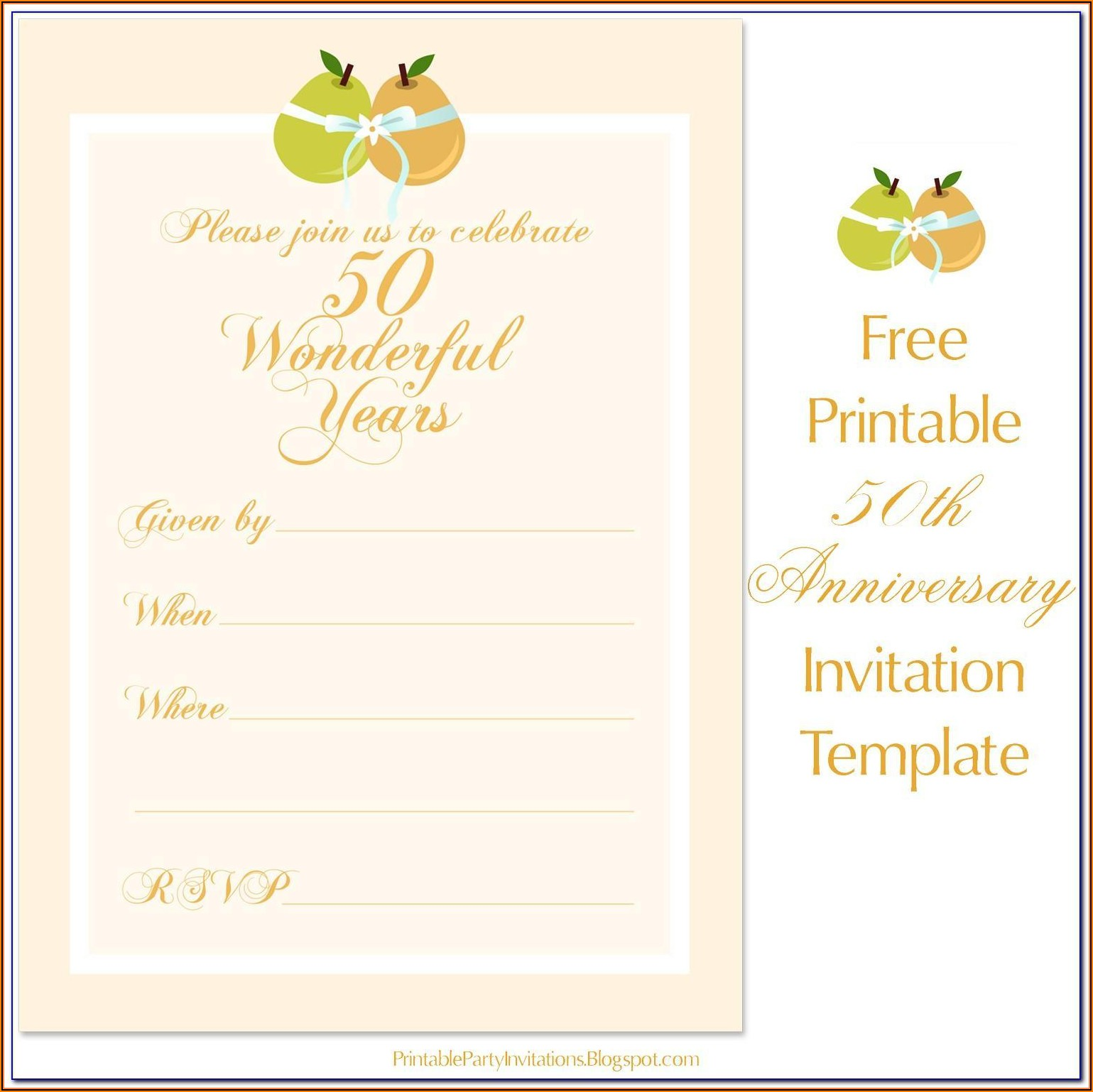 50th Wedding Anniversary Announcement Sample