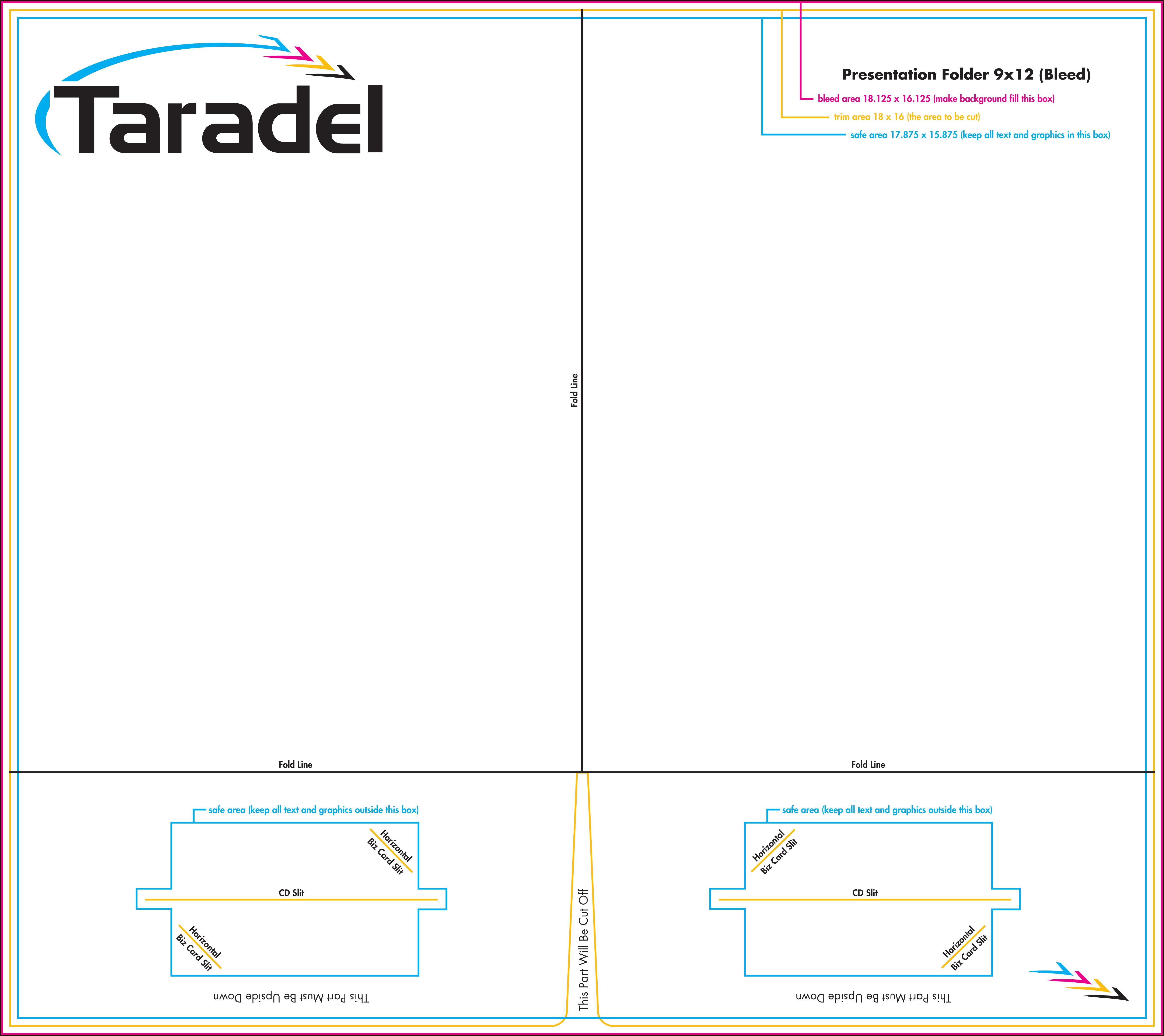 9x12 Pocket Folder Template Indesign