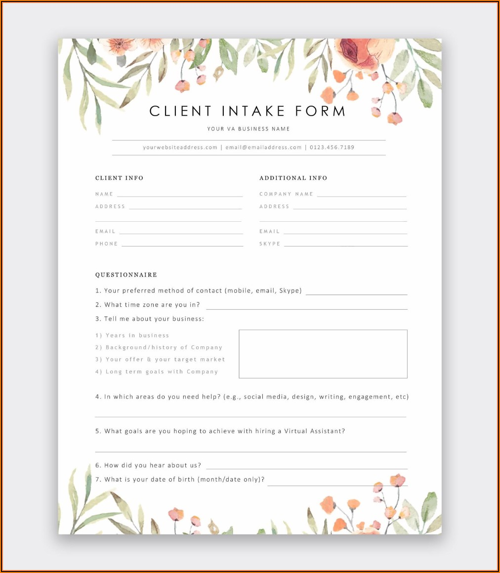 Admin Assistant Contract Template