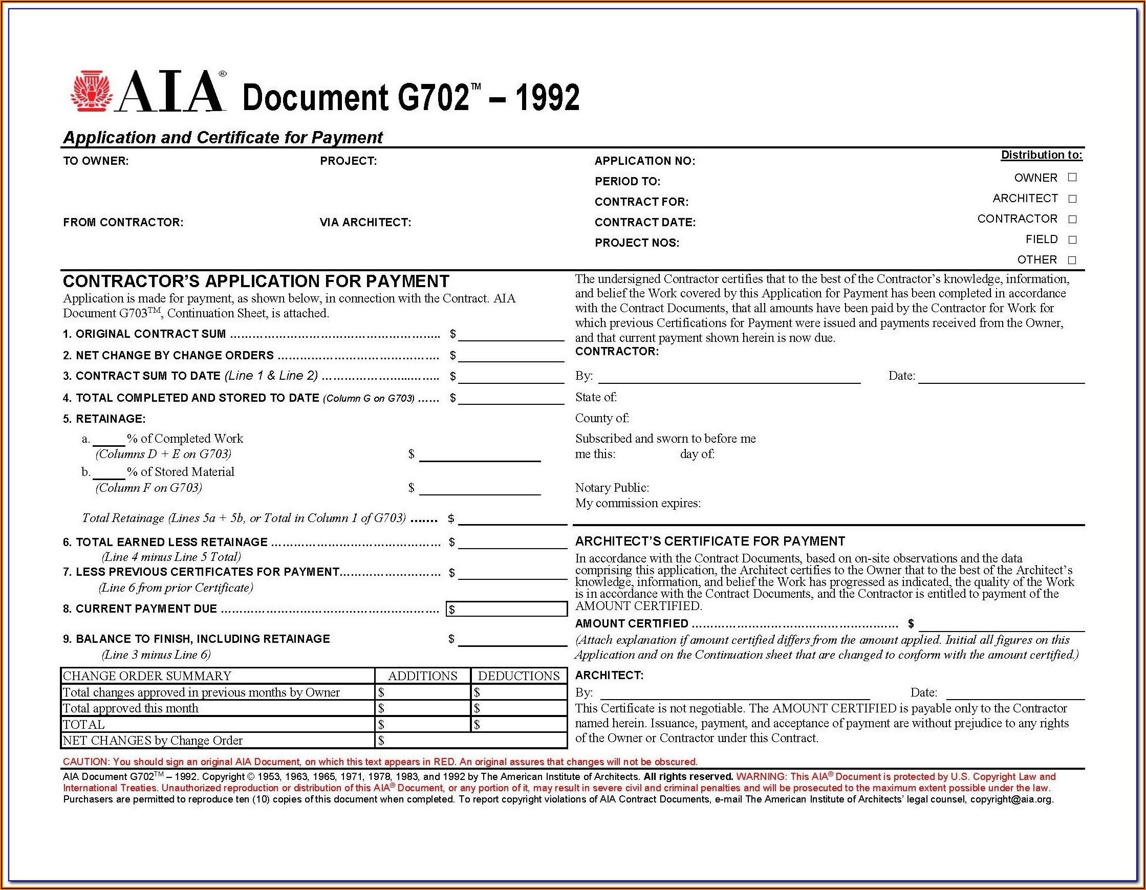 Aia Form 702