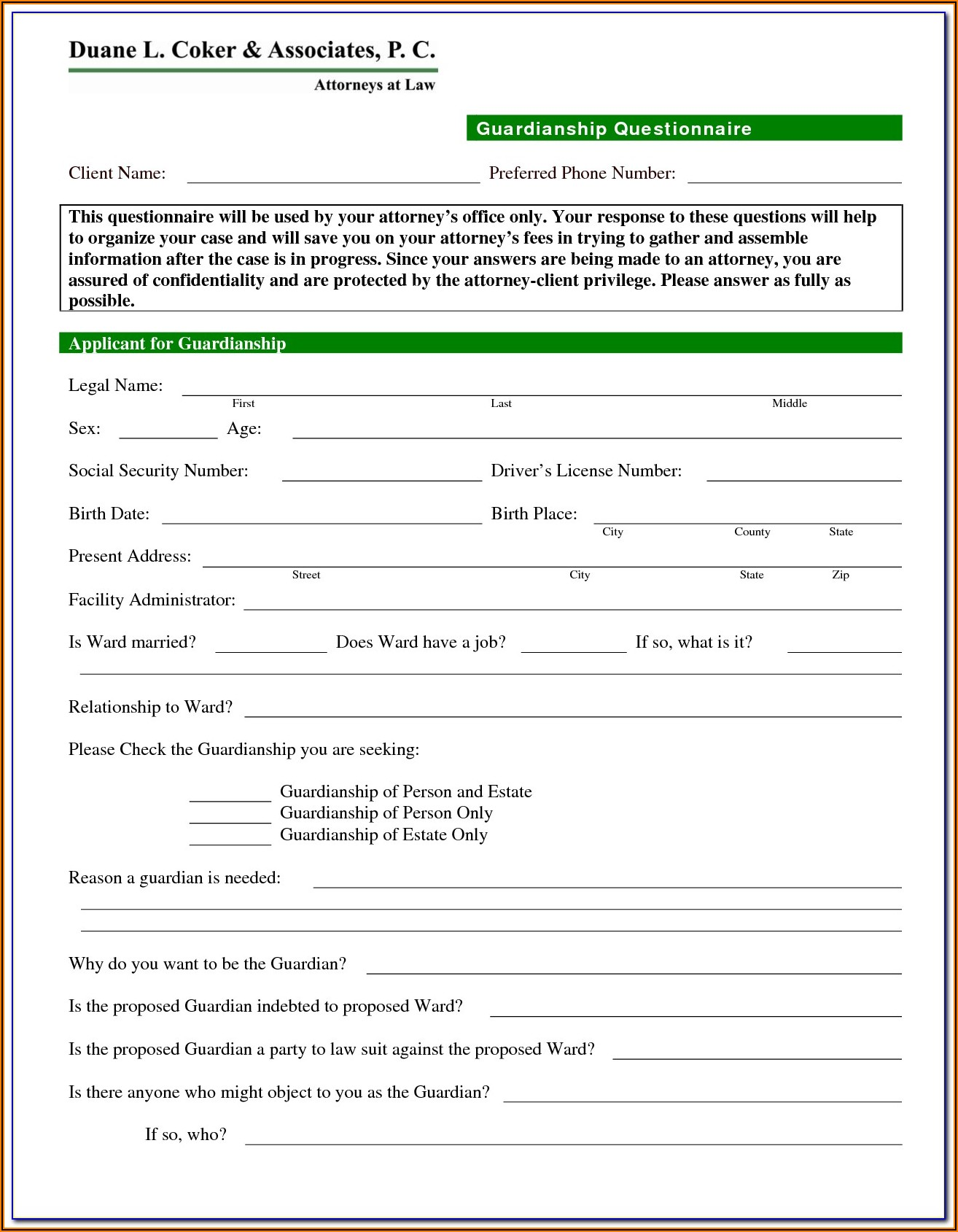 Alabama Guardianship Forms