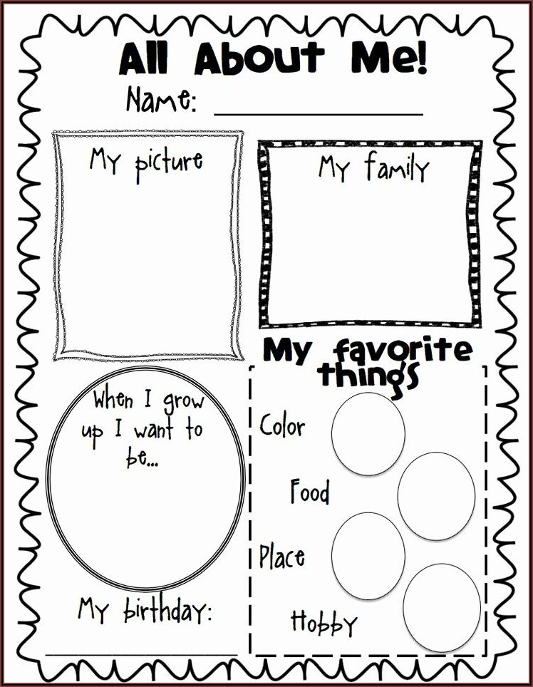 All About Me Poster Template Pdf