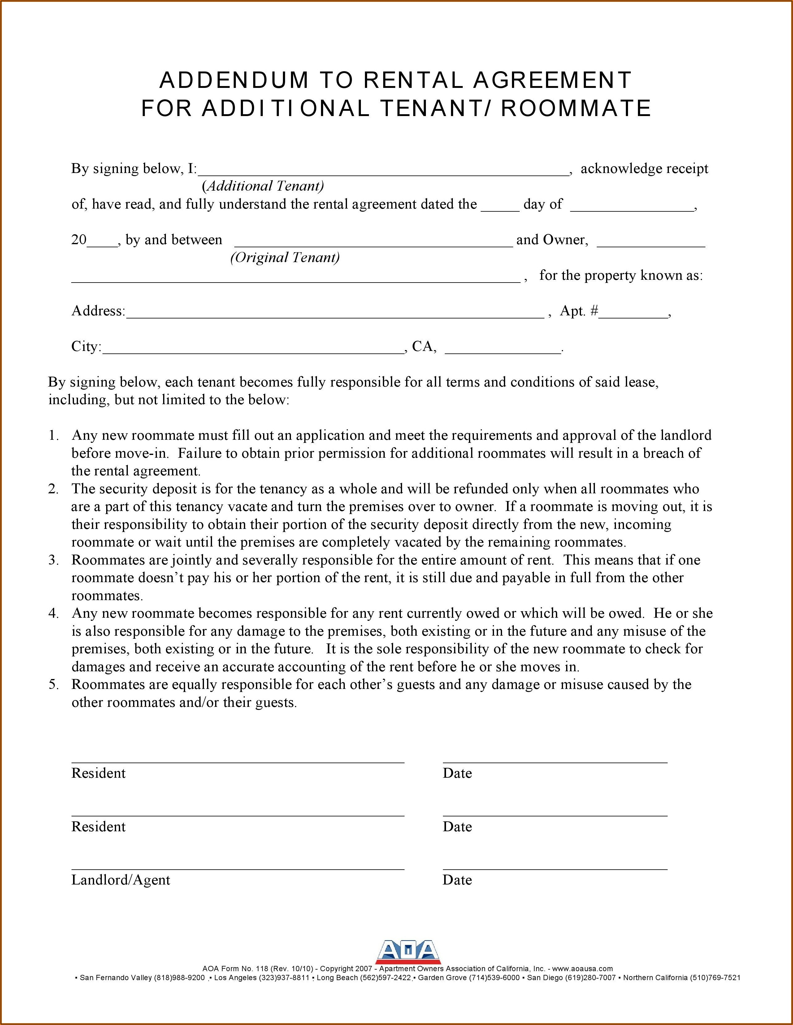 Aoa Lease Forms