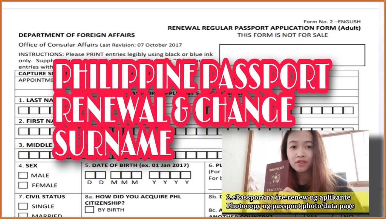 Application Form For Passport Renewal Nagoya