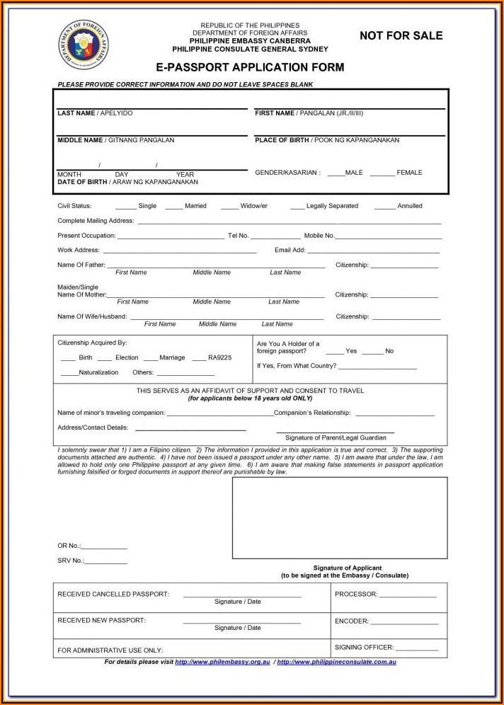 Application Form For Passport Renewal Uk