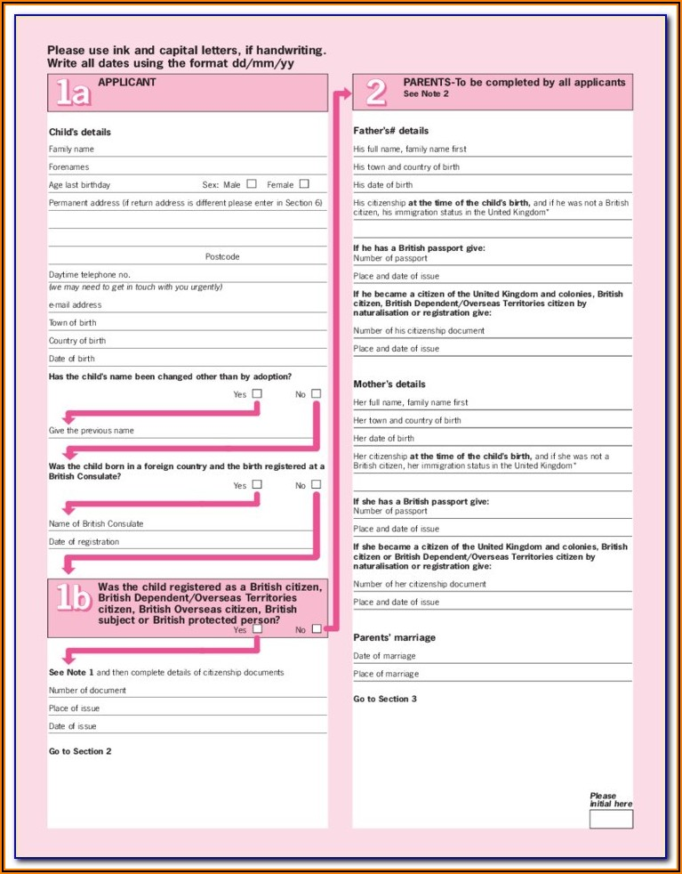 Application Form For Passport Renewal