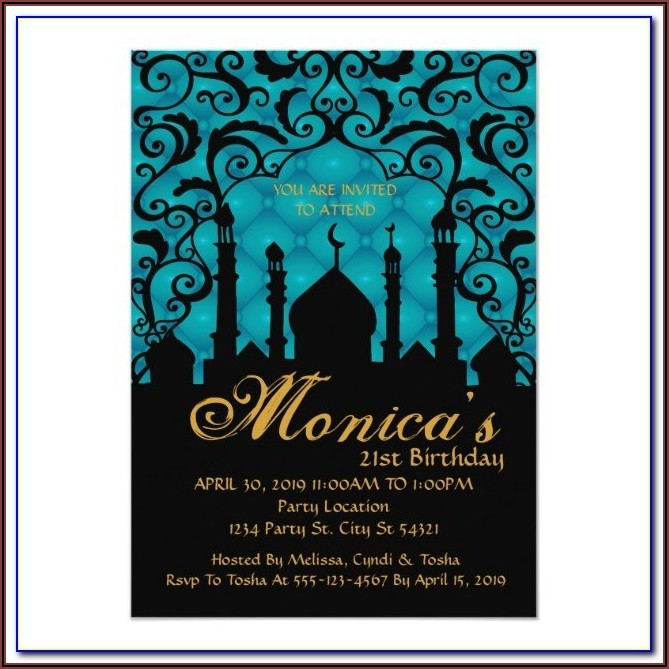 Arabian Nights Invitation Template Free