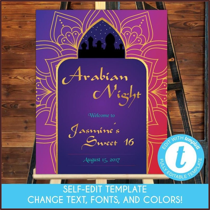 Arabian Nights Party Invitation Templates