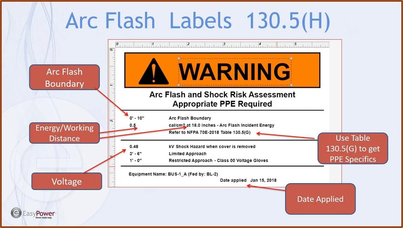 Arc Flash Label Template Free