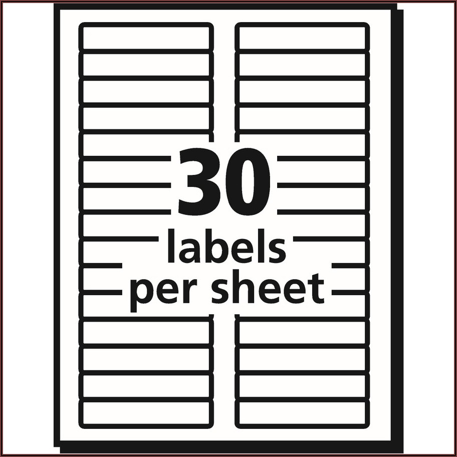 Avery File Label Template 5266