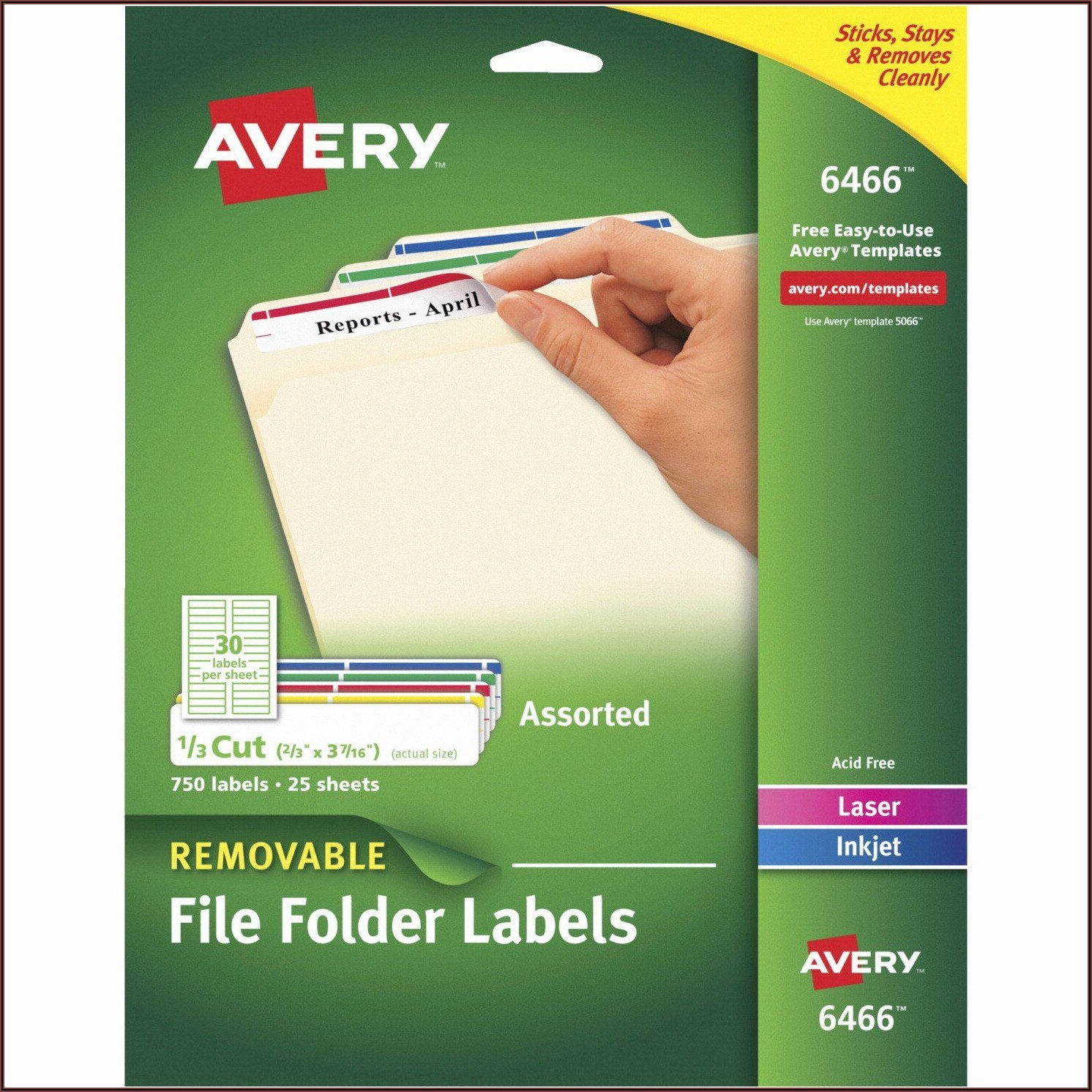 Avery File Label Template