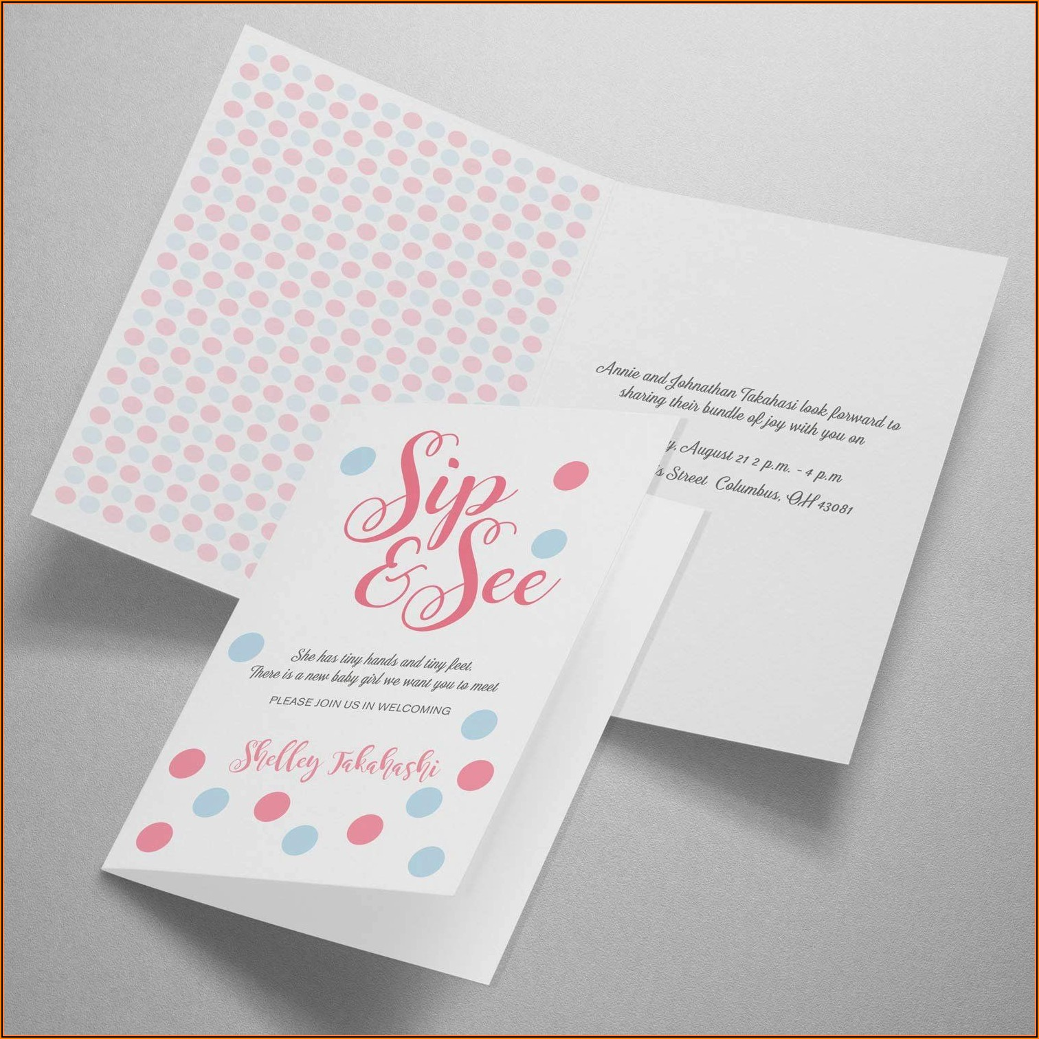 Avery Half Fold Greeting Card Template