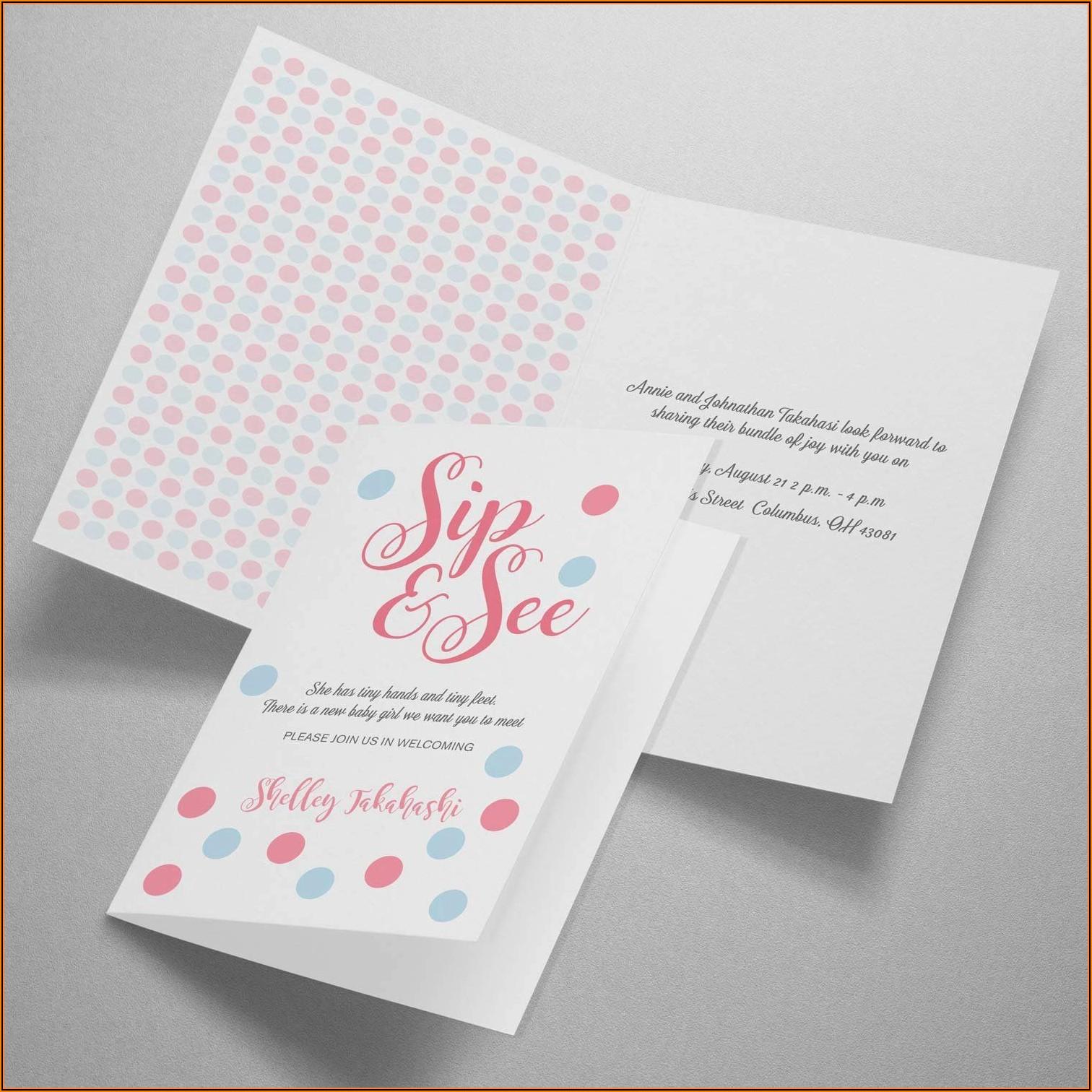 Avery Half Fold Greeting Card Template