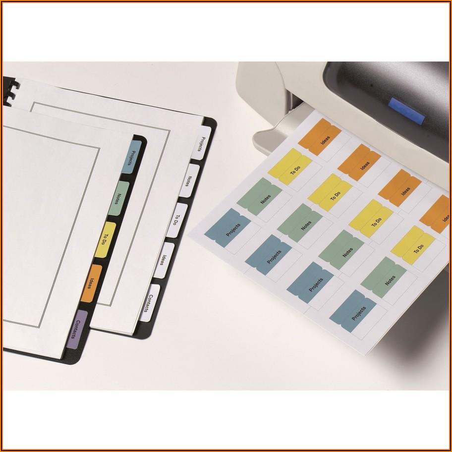 Avery Printable Self Adhesive Tabs 16282 Template