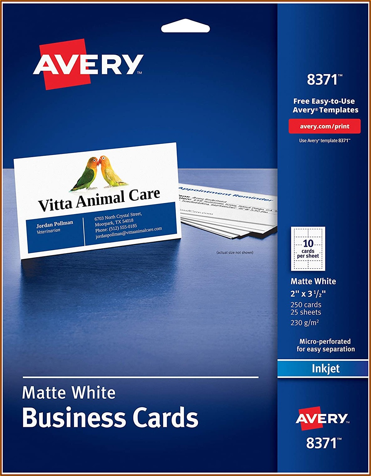 Avery Template 8371 Business Cards For Word
