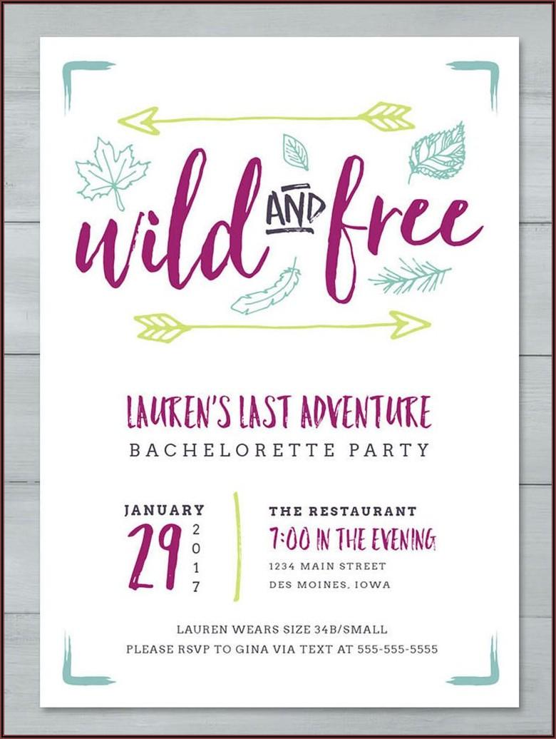 Bachelorette Party Invite Templates