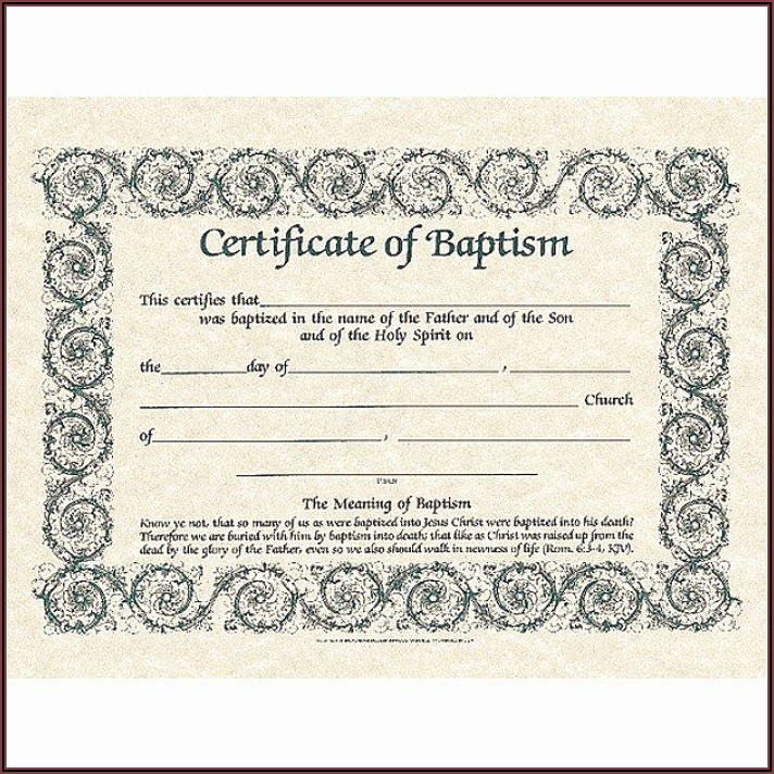 Baptism Certificates Printable