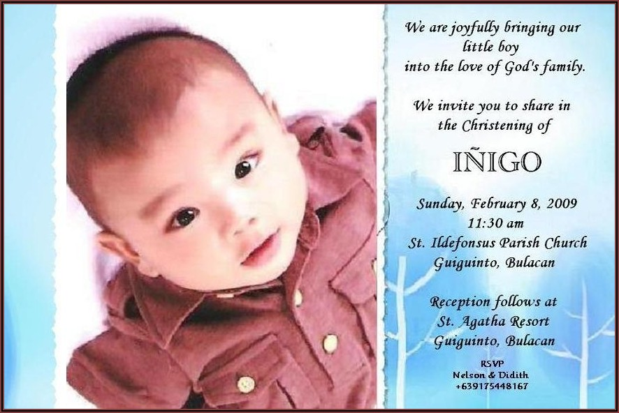 Baptism Invitation Template Philippines