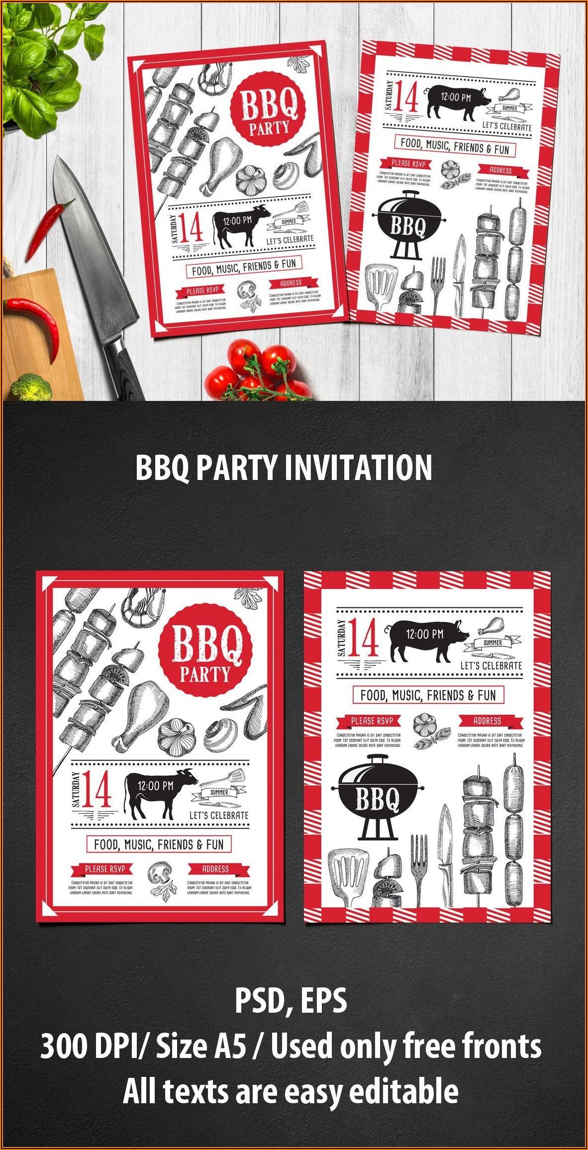Bbq Invite Template Psd