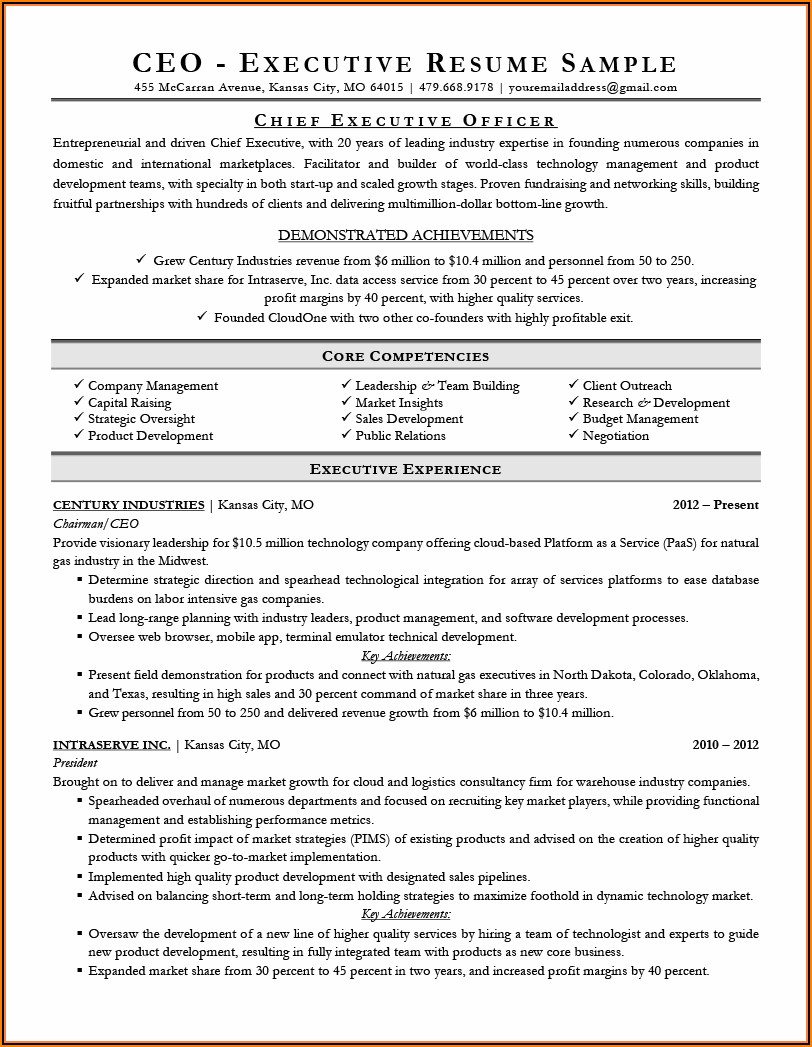Best Free Executive Resume Templates