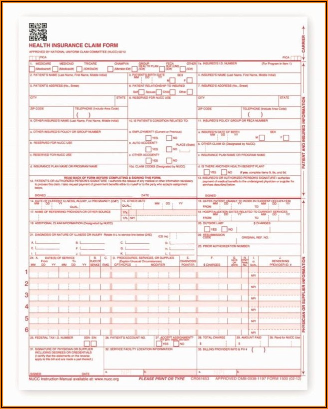 Blank Hcfa 1500 Form Free Download