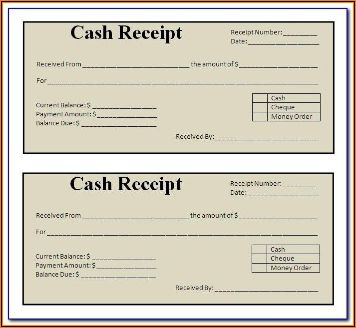 Blank Sales Receipt Form Pdf