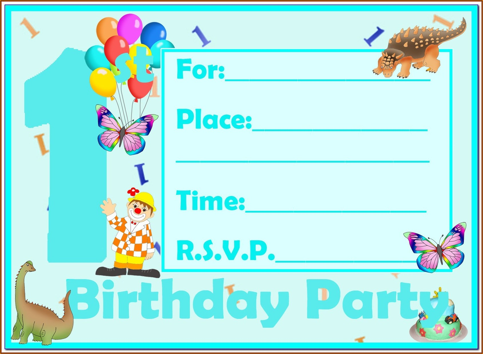 Boy Invitation Templates