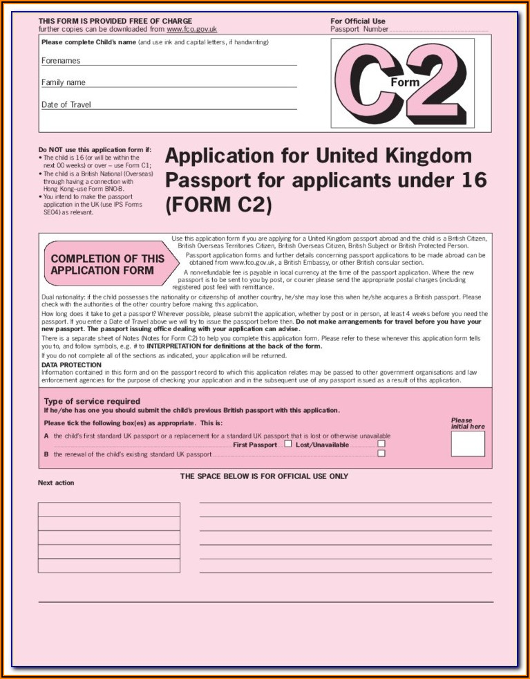 British Passport Renewal Form